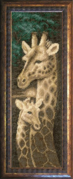 Giraffe  - Counted Cross Stitch Kit with Color Symbolic Scheme