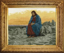Jesus - Counted Cross Stitch Kit with Color Symbolic Scheme