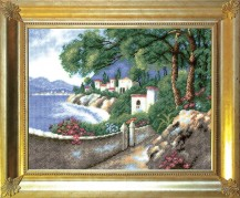 Coast  - Counted Cross Stitch Kit with Color Symbolic Scheme
