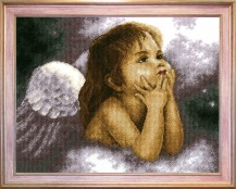 Angel - Counted Cross Stitch Kit with Color Symbolic Scheme