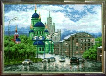 Urban Landscape - Counted Cross Stitch Kit with Color Symbolic Scheme