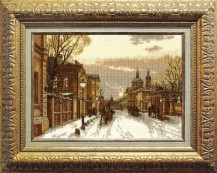 Frosty Evening In Moscow - Counted Cross Stitch Kit with Color Symbolic Scheme
