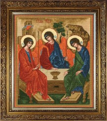 Trinity - Counted Cross Stitch Kit with Color Symbolic Scheme