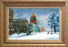 St. Isaac. St. Petersburg - Counted Cross Stitch Kit with Color Symbolic Scheme