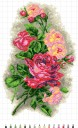 Red Roses - Stamped Cross Stitch Kit with Water Soluble Color Scheme