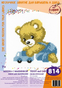 Bruin - Stamped Cross Stitch Kit with Water Soluble Color Scheme