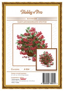 Viburnum - Counted Cross Stitch Kit with Color Symbolic Scheme